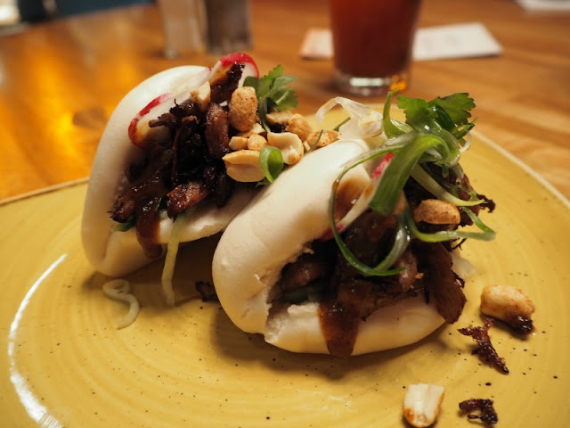 Duck bao buns at Giraffe, Union Square Aberdeen