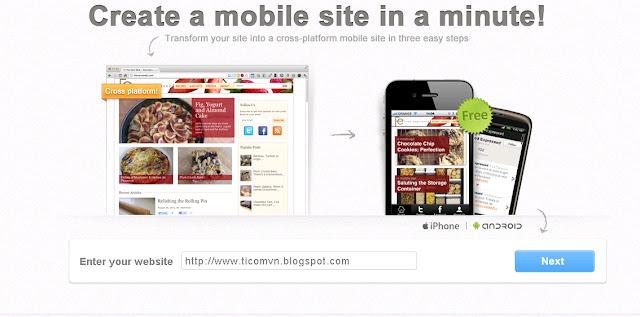 Cài đặt Mobile Template cho blog của bạn bằng Toolbar Wibiya
