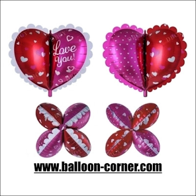 Balon Foil Hati Love You 4 Dimensi / Foil Hati Love You 4D