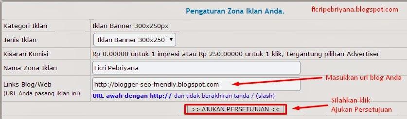 Memasang Iklan Pada Blog Dari IklanBlogger.com 9 - Ficri Pebriyana