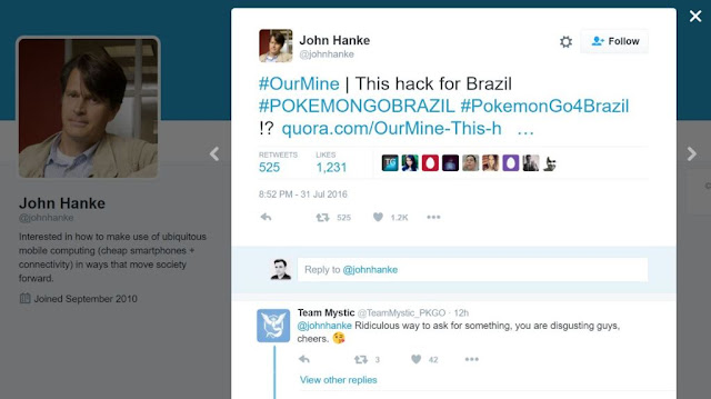 CEO da Niantic John Hanke tem conta do Twitter invadida - MichellHilton.com
