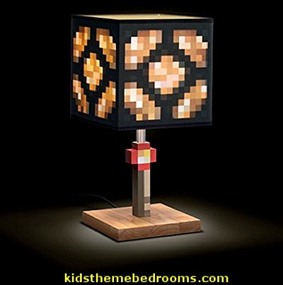 Minecraft Glowstone Lamp    minecraft bedroom ideas - minecraft bedroom decor