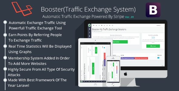 Booster Traffic Exchange System – Codecanyon