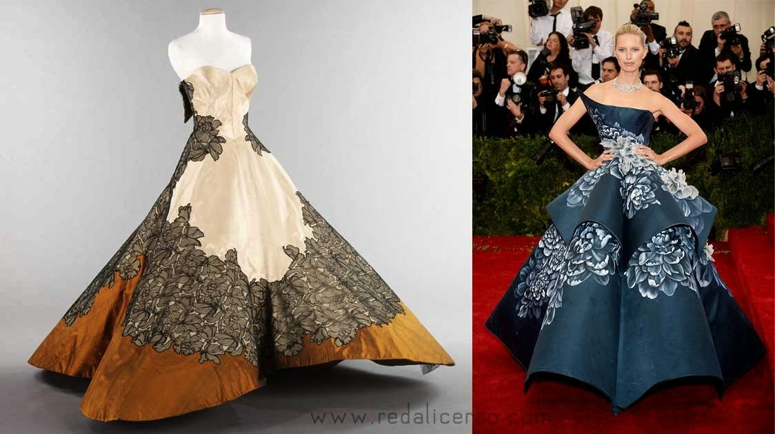 MET Gala 2014, Met Gala, Charles James, New Fashion, Latest Trends, Latest Fashion, Beyond Fashion, Fashion, Designers, Designer Clothes, Karolina Kurkova, Marchessa, Fashion Blogger of Pakistan, Fashion online, Dress, Clothing