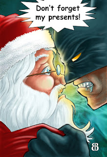 Batman and Father Christmas