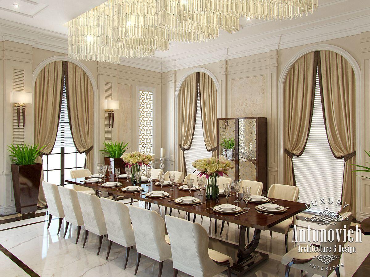Luxury antonovich design uae dining area design from for Dining area design
