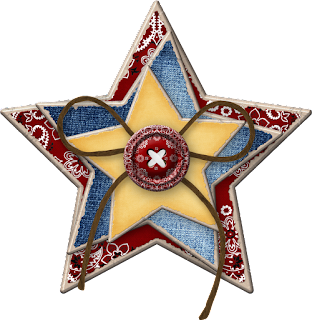 Contry or Cowboy Style Stars Clip Art.