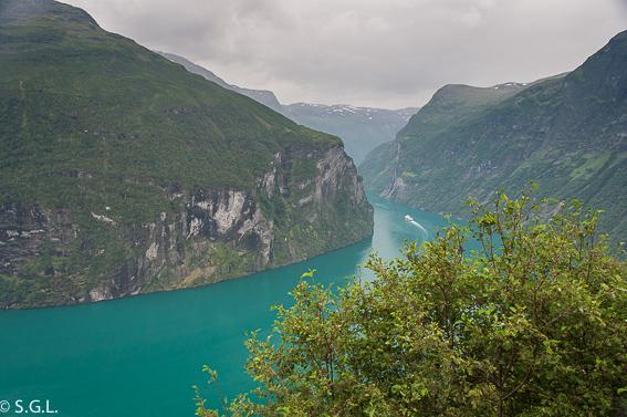 El fiordo Geiranger. Noruega