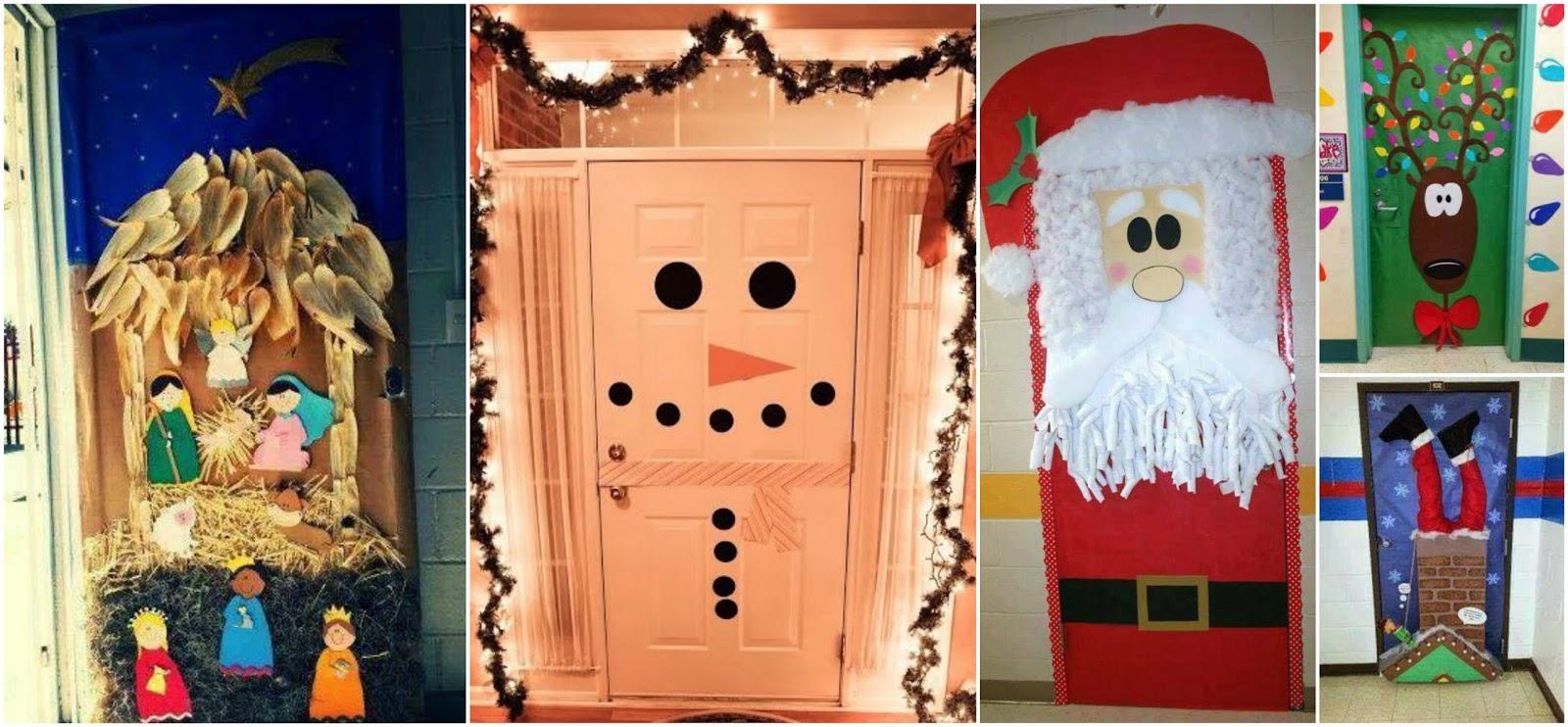 18 Ideas Espectaculares Para Decorar Puertas En Navidad