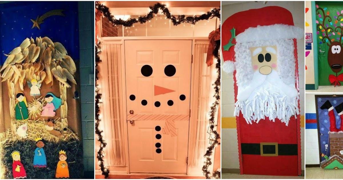 18 ideas espectaculares para decorar puertas en navidad for Ideas para decorar puertas