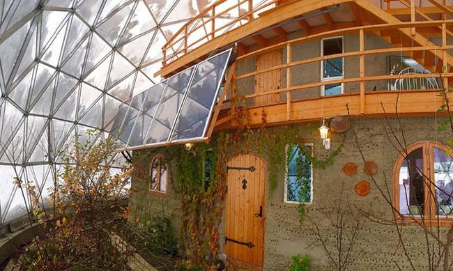 02-Hjertefølgers-Architecture with a Cob House built in a Geodesic Dome in the Arctic Circle