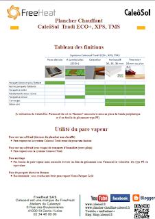 Plancher Chauffant Caleosol Tradi - Modes Constructifs