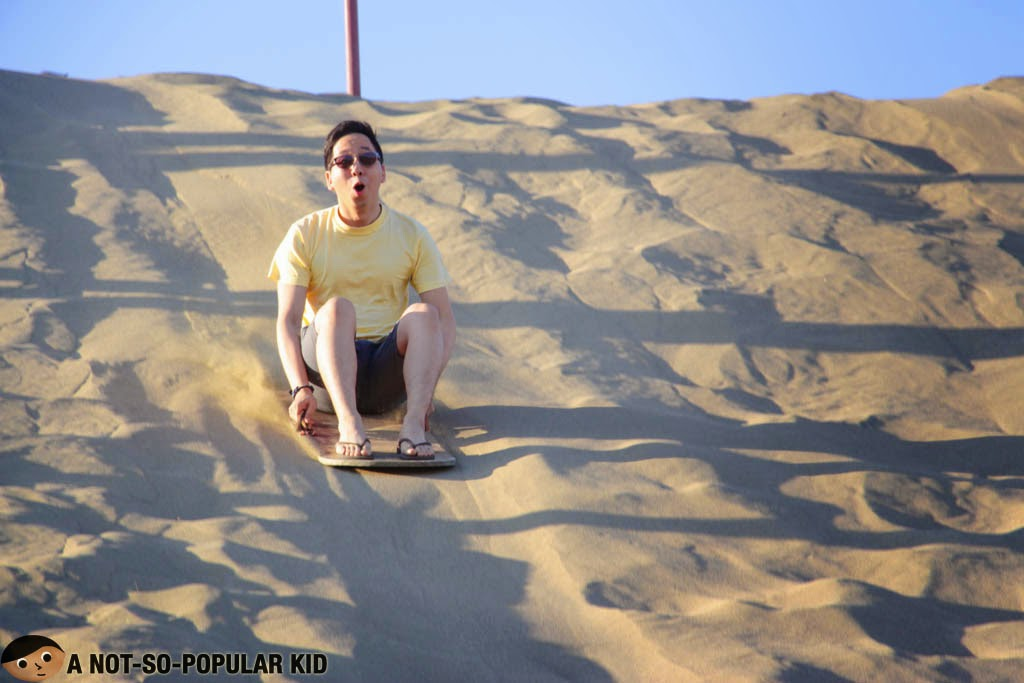 """Wooohooo!"" - Sand boarding in Paoay!"