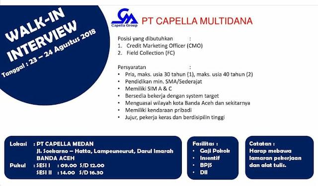 Lowongan Kerja di PT Capella Multidina