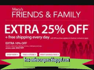 Free Printable Macy's Coupons