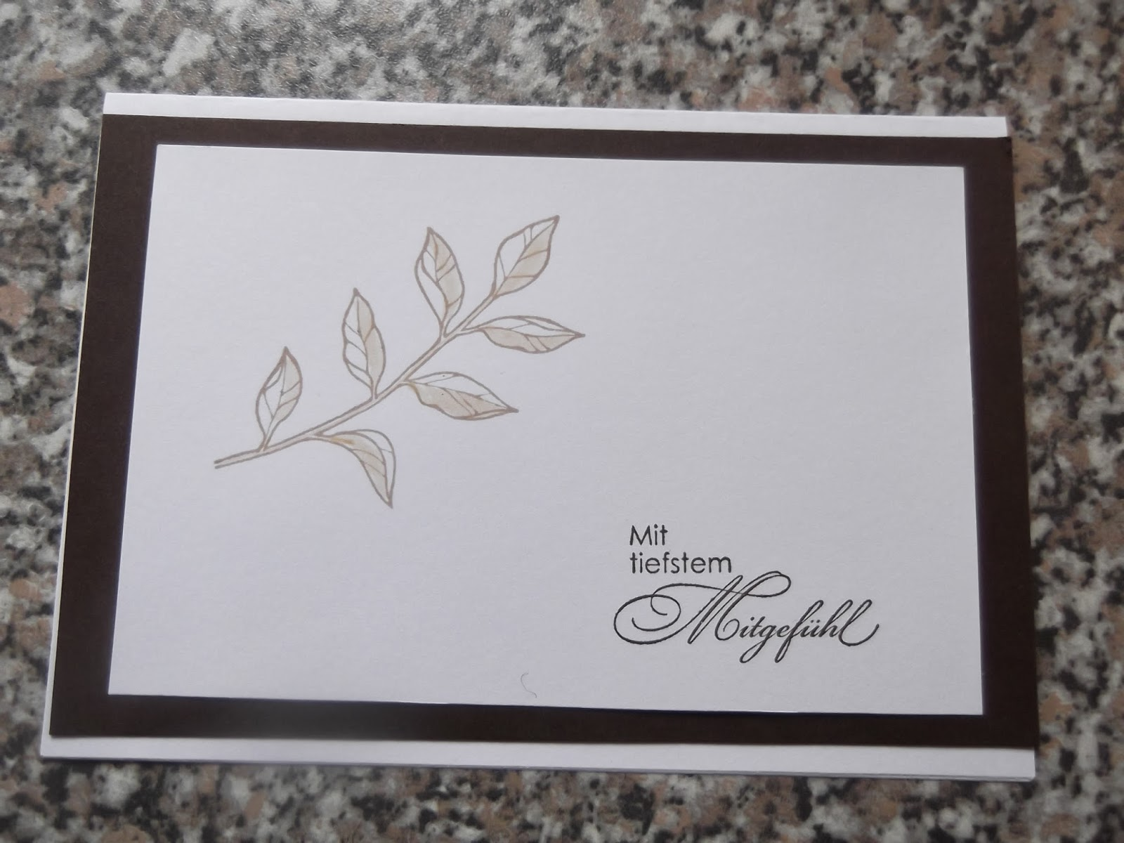 Umschlag Trauerkarte Beschriften