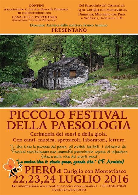 Manifesto festival della Paesologia a Piero