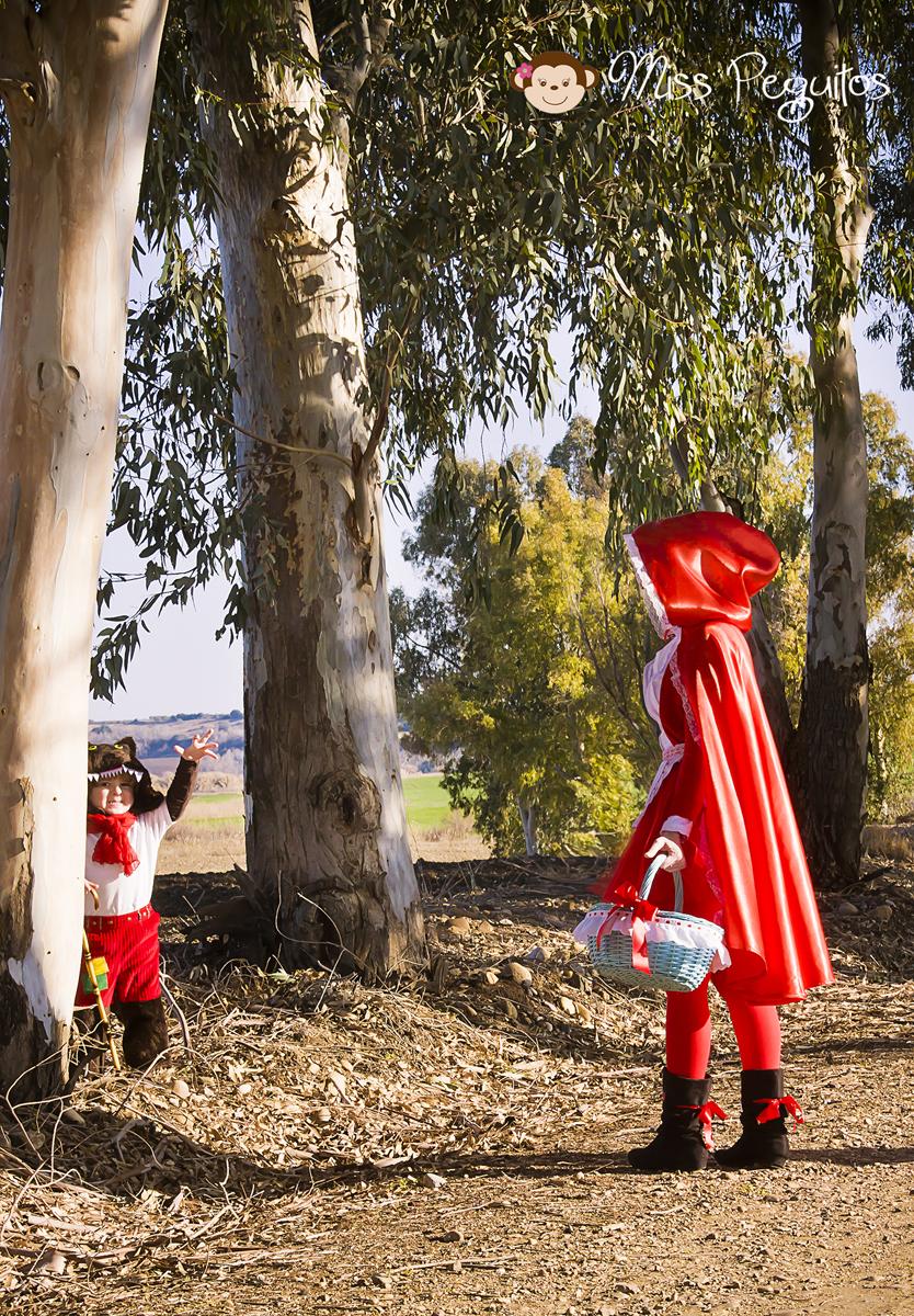 diy disfraz casero caperucita y lobo costume wolf and red riding hood