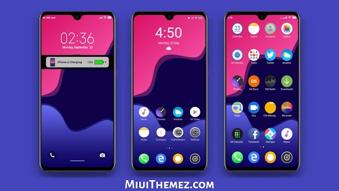 iOS 13 Dark MIUI Theme | An iOS Theme with Dark Look