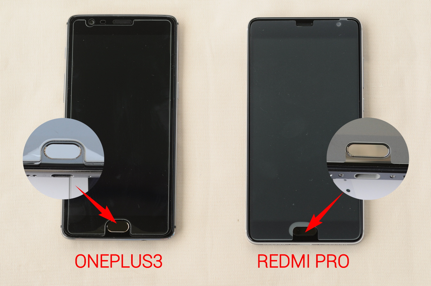 To2ccom Blog Oneplus 3 Vs Xiaomi Redmi Pro Which One You Like 3s 32 Gb Rom Global Gold Front Camera Is In Left Right