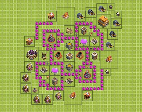 Clash of Clans Town Hall 6 Farming Type