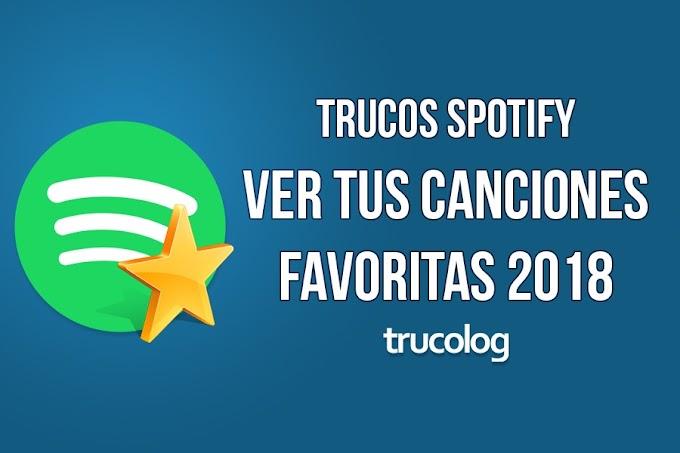 Como saber tus artistas y canciones favoritos en Spotify 2018