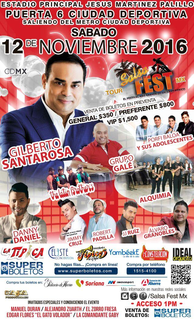 LLEGA A MÉXICO POR PRIMERA VEZ EL SALSA FEST MX 2016, EL EVENTO MÁS GRANDE DE SU TIPO EN LA CIUDAD DE MÉXICO
