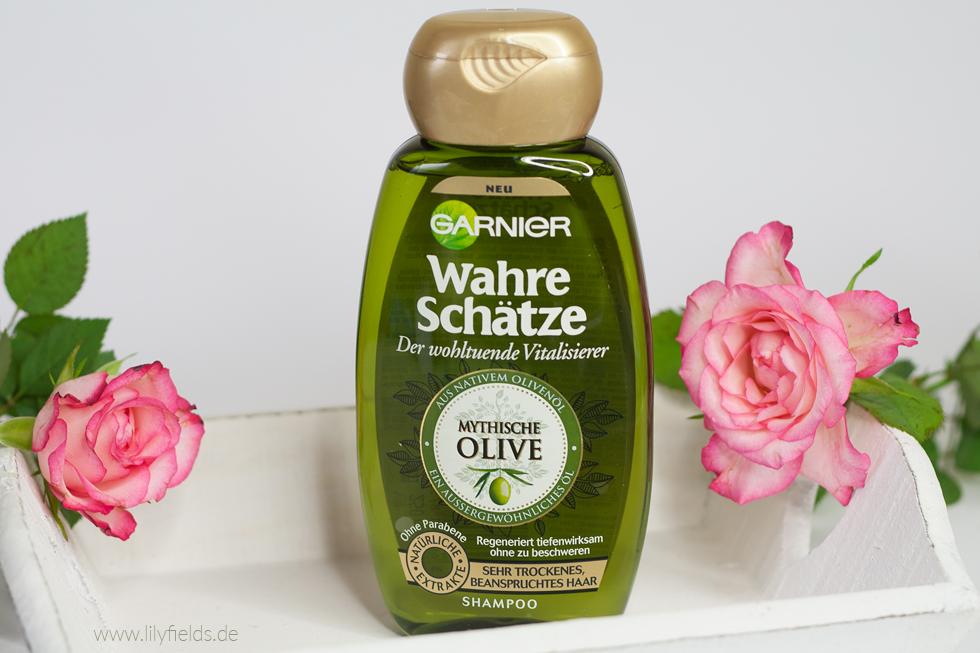 Foto zeigt Shampoo der Garnier Wahre Schätze Mythische Olive  Reihe
