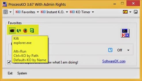 ProcessKO 5.01 - Finaliza procesos colgados que ni el administrador de tareas consigue finalizar