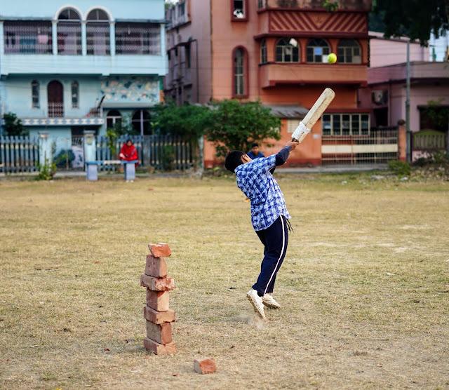 Nephew Rick Playing Cricket 8
