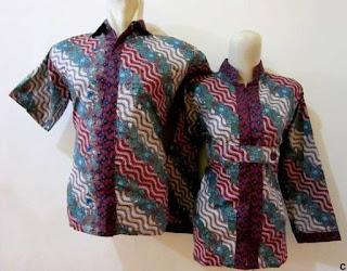 Kemeja batik couple untuk pasangan modis