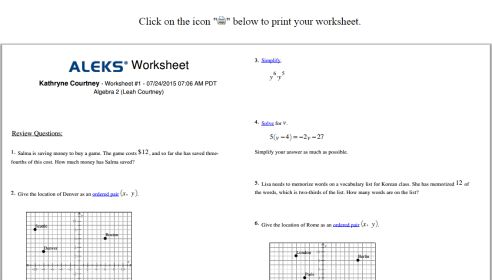 A Review of the ALEKS Online Math Program | As We Walk Along