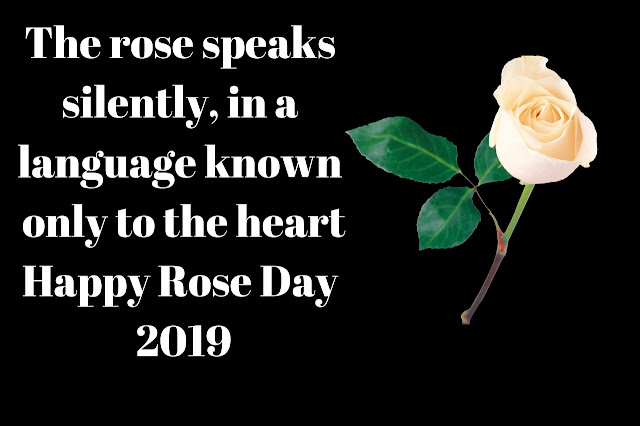The rose speaks silently, in a language known only to the heart. Happy Rose Day 2019.