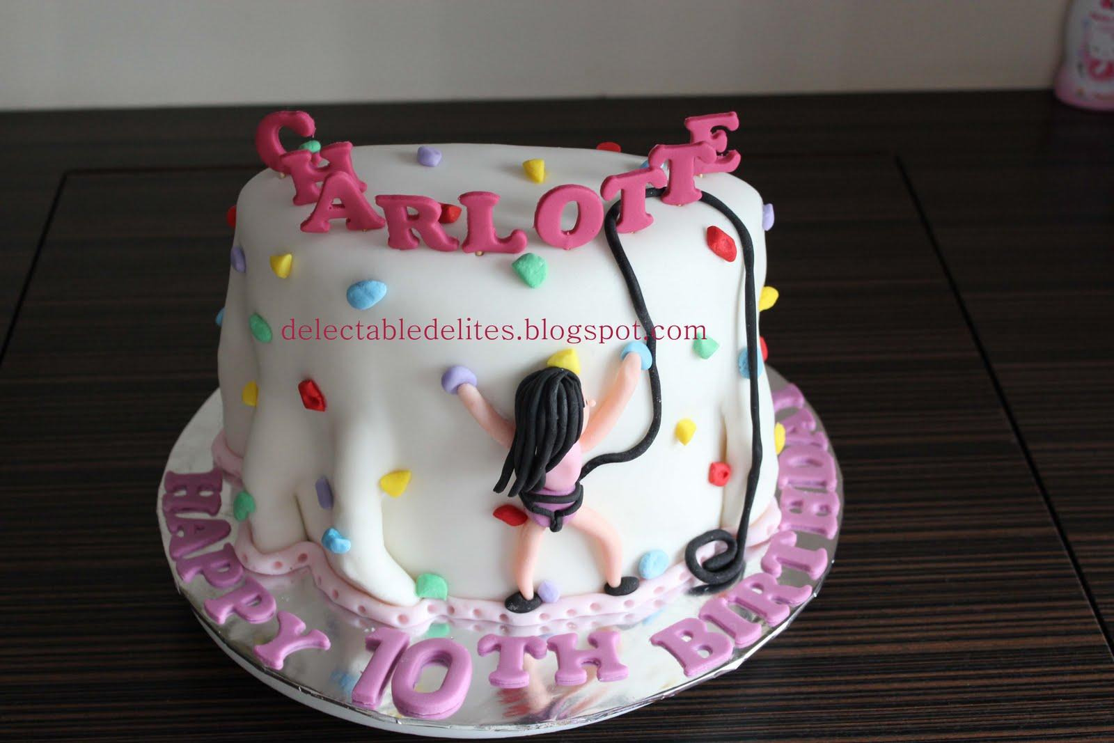 Delectable Delites Rock Climbing Cake