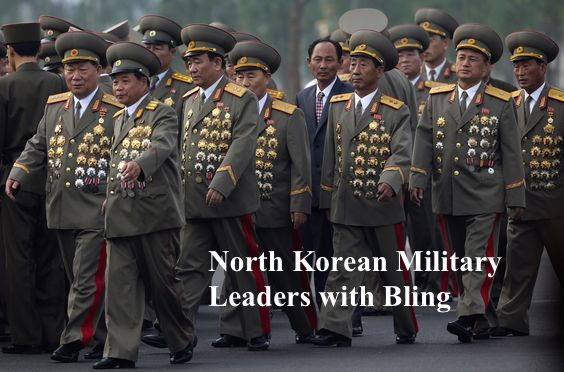 North Korean senior military officials. 60 yrs after the Korean war, opening ceremony of a cemetery for fallen fighters of the Korean People's. Medals cover their ill-fitting jackets. Mutual Assured Lunacy, postscript and Other stories of Trump and Megalomaniacs. marchmatron.com