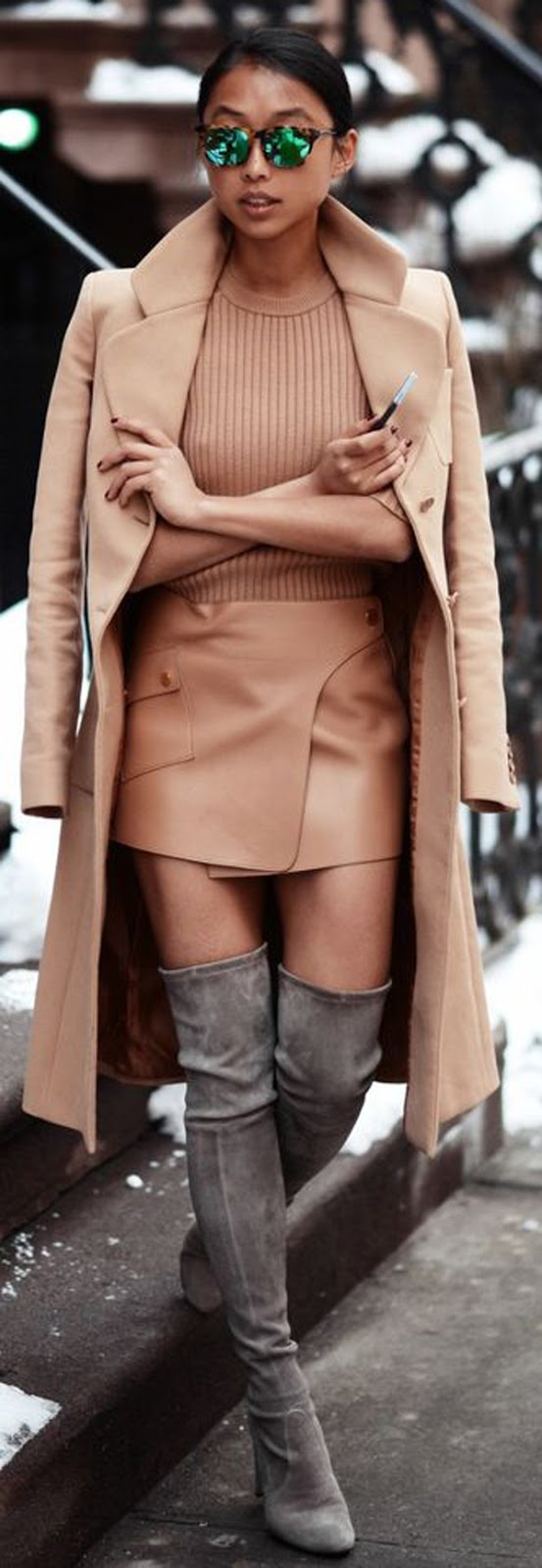 knee-high boots elegant style