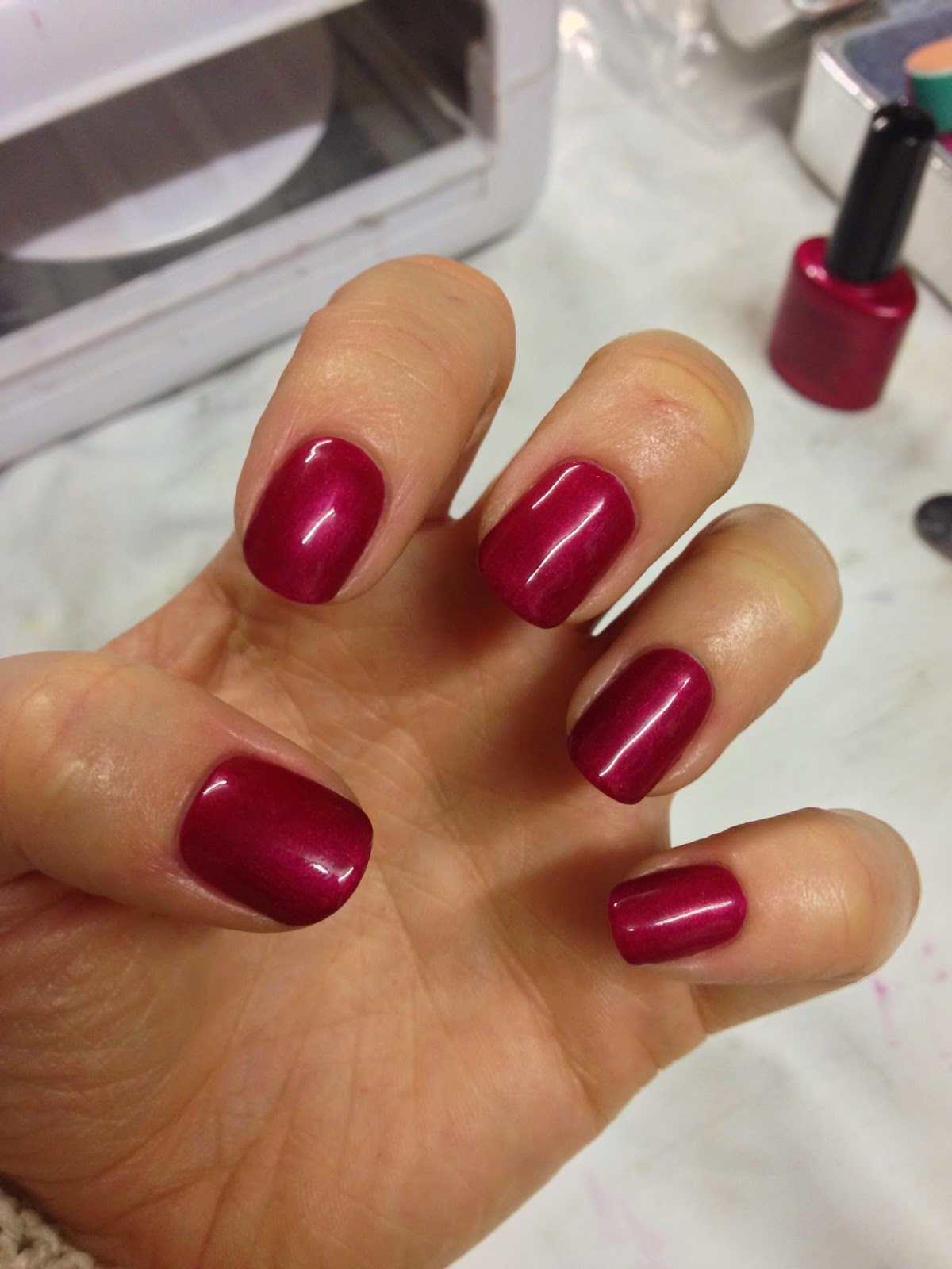 Brush Up And Polish Up!: CND Shellac Red Baroness