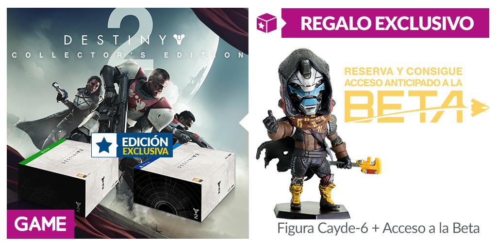 GAME nos fascina con su edición coleccionista de Destiny 2 y confirma beta y figura