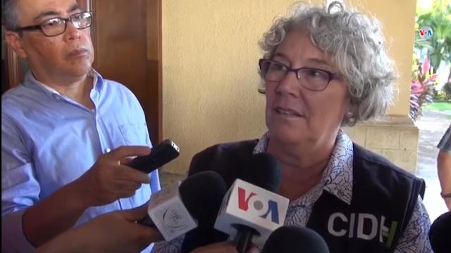 Ana María Tello, coordinadora de la misión de la CIDH / VOA