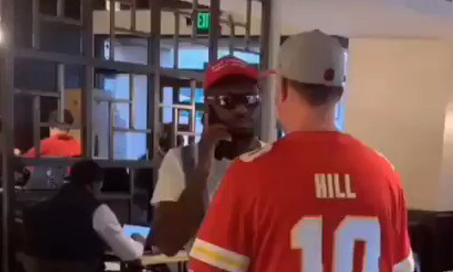 White man rips MAGA hat off African American after bullying him (CAUTION: Language that needs bleeping)