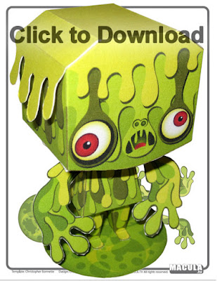 monster paper toy printable