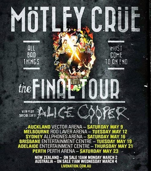Blogkitch Concert Review Mötley Crüe The Final Tour Sydney 16 May 2015