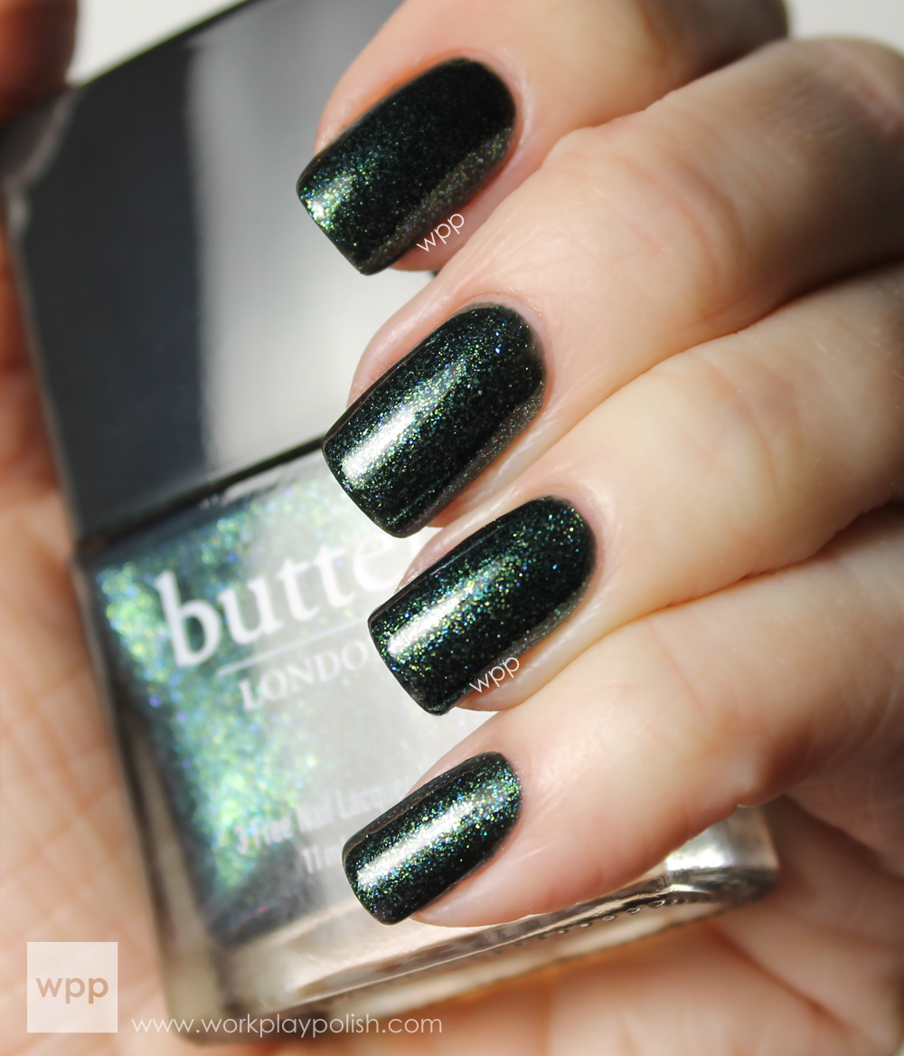 Butter London Jack the Lad and Finger Paints Figure of Art Saran Wrap Mani (work / play / polish)
