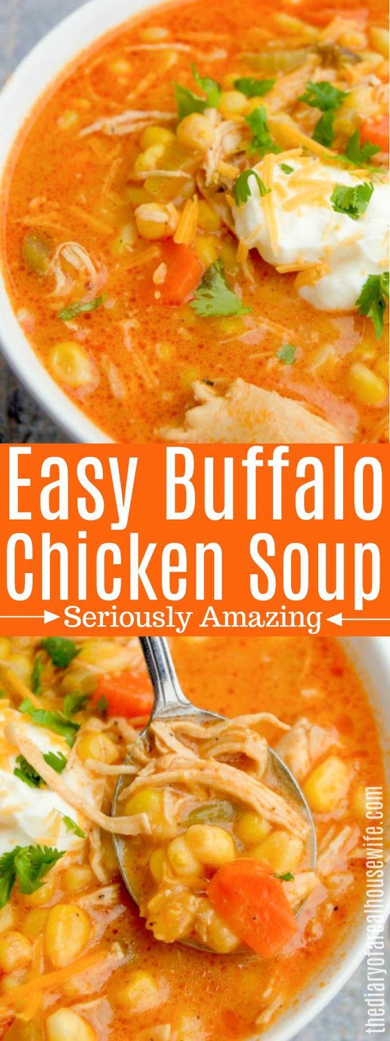 Buffalo Chicken Soup #buffalo #chicken #soup