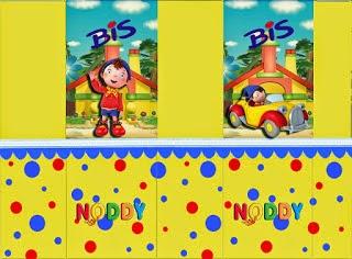 Etiquetas de Noddy  para imprimir gratis.