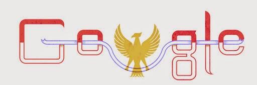 Google Doodle Untuk Hari Kemerdekaan Republik Indonesia ke 68 Tahun 2013