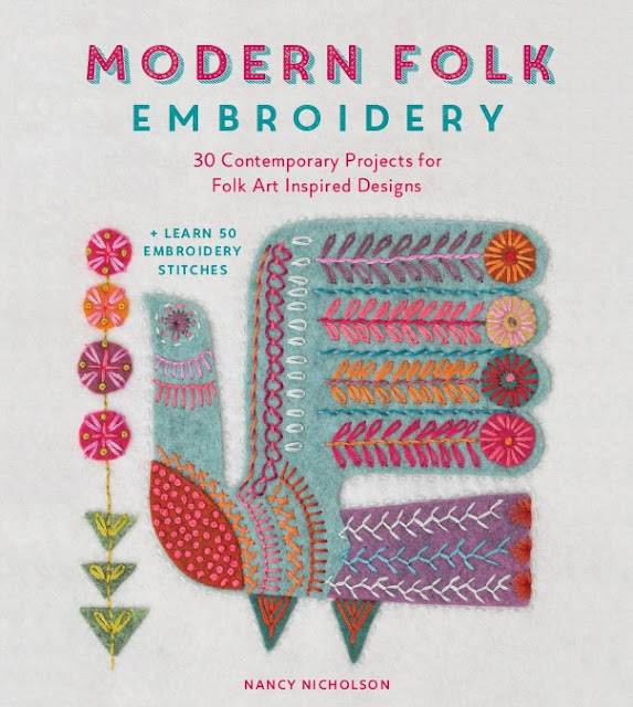 Modern Folk Embroidery by Nancy Nicholson pub by David and Charles