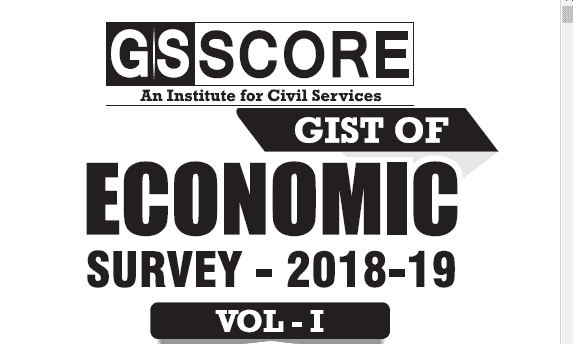 GS Score Economic Survey 2018-2019