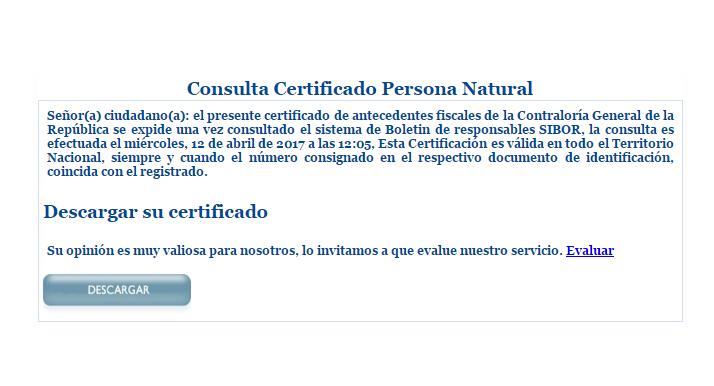 certificado de antecedentes contraloria