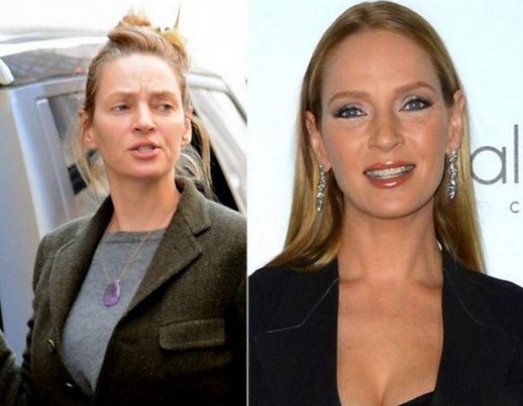 Uma Thurman No Make Up